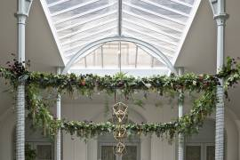 Bespoke floral / Lighting Installation by Wildflower at Wynyard Hall