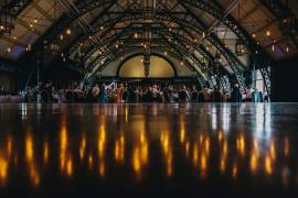 Our festoon canopy in the Discovery Museum Great Hall - Photo Credit: The Twins