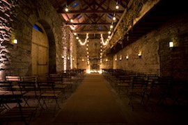 Doxford Weddings: Threshing Hall with Uplighters