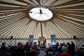 House-Light for the Yurt at Hexham Book Festival