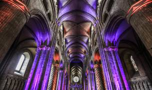 100% Wireless LED battery powered lighting at Durham Cathedral.