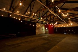 Warehouse 34, long sweeping lines of Festoon bring warmth to this industrial space.