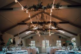 Simple festoon lighting The Parlour Blagdon  - Photo Credit: White Dove Photography